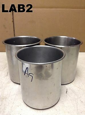 4.5QT 316/304 Stainless Steel Bain Marie Pot/Pail/Tote/Bucket/Drum- Lot of 3