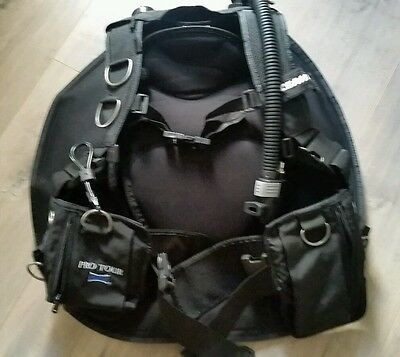 Scuba BCD Oceanic Pro Tour Bioflex Weight intregrated Size M/ L Nice!