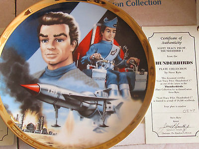 Hamilton Thunderbirds Plate - 'scott Tracy Pilot' - Number 0847 By Steve Kyte