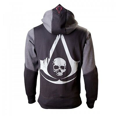 Assassins Creed 4 Hoodie S Black Grey Character Neu & OVP