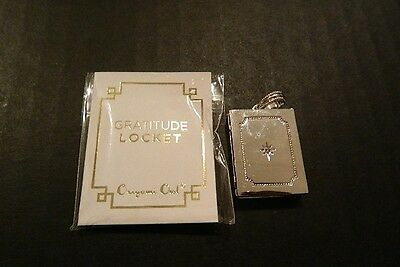 Origami Owl Gratitude Photo Locket  Will Hold 2 Pictures ~Brand New~