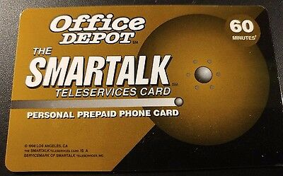 Smartalk Teleservices Cards 60 Minutes,  Office Depot Sponsored Card        (AA)