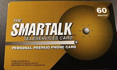 Smartalk Teleservices Cards 60 Minutes, 1998 Vintage Collectible            (AA)
