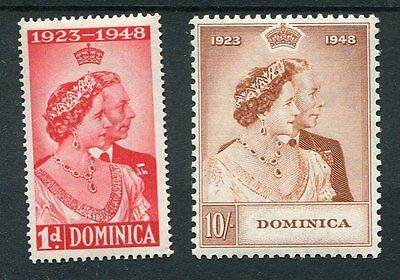 Dominica KGVI 1948 Royal Silver Wedding SG112/3 mounted mint