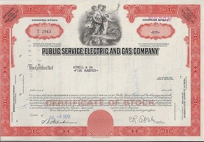 Public Service Electric And Gas Company......1970 Stock Certificate