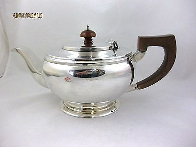 Solid Silver   ROUND TEAPOT   Hallmarked  LONDON 1941