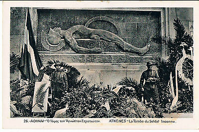 Postcard The Grave Of The Unknown Soldier Athens C1920's