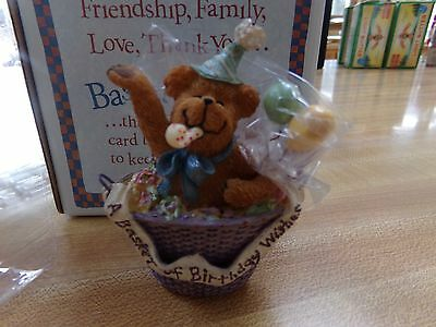 Boyds Bear Basketbearies Happy Bear Nib