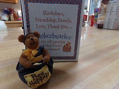 Boyds Bear Basketbearies Buzz Bear Nib