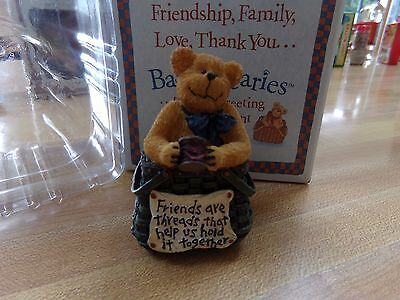 Boyds Basketbearies Stitch Bear Nib