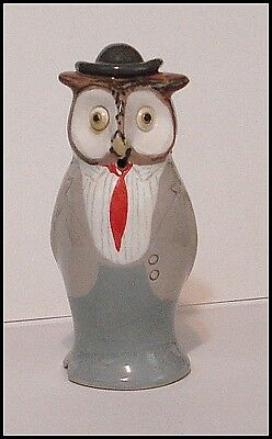 ***MR. OWL WITH A HAT*** PIE BIRD FUNNEL VENT by STUART BASS, ENGLAND