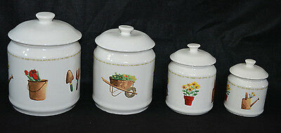 THOMSON POTTERY My Garden Nature gives us the variety we crave canister set