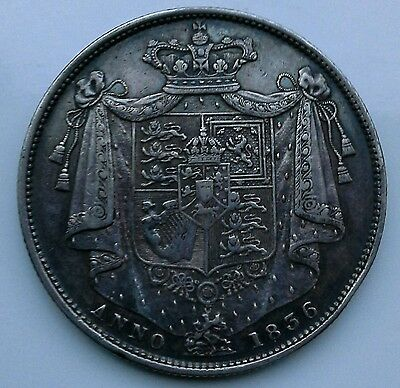 **nicely Toned 1836 William Iiii Silver  Halfcrown**