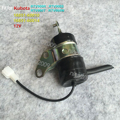 Fuel Stop Solenoid Valve Fit for Kubota Tractor RTV900R RTV900S RTV900T RTV900W