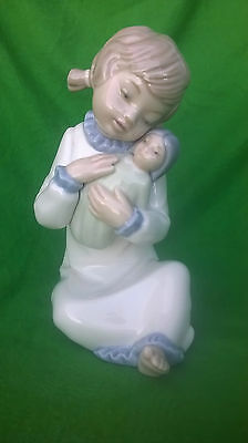 Zaphir  Porcelain Little Girl with Doll