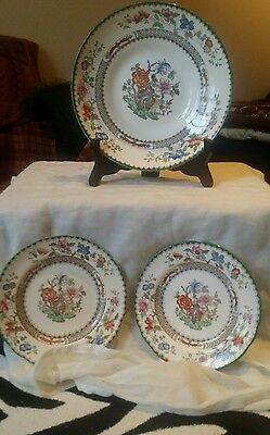 Copeland Spode Chinese Rose Shallow Dish And 2 Side Plates Look