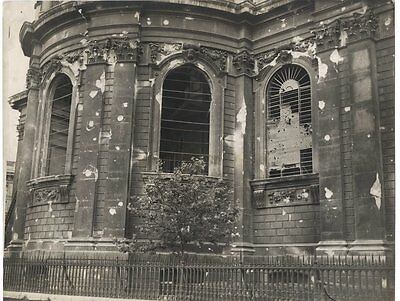 Ww2 Era Orig. Photo London Blitz East End Of St Pauls Cathedral
