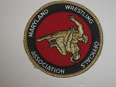 Vintage Maryland Wrestling Officials Association Collectible Patch Team Sports