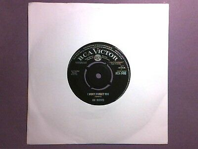 """Jim Reeves - I Won't Forget You (7"""" single) RCA 1400"""
