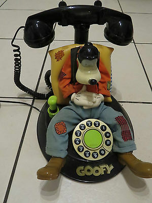 Vintage telephone Disney Goofy animated talking novelty phone rare collectable