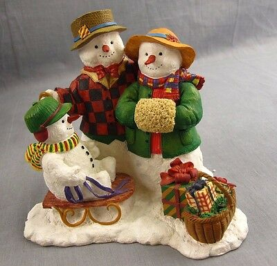 Lang and Wise Classic Santa Snowman Figure Snow Family Susan Winget 1998