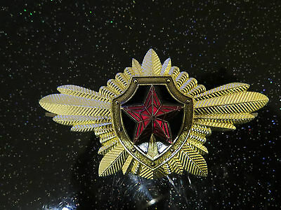 large metal collectable Russian Soviet USSR CCCP hammer & sickle hat badge