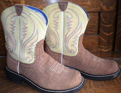 Ariat Fat Baby Boots Lime Green Woman's 11 B
