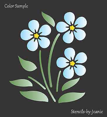 Joanie Stencil Forget Me Not Alpine Flower Love Friendship Valentine Garden Art