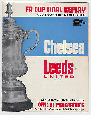 Chelsea v Leeds United - 1970 FA Cup Final Replay - Programme