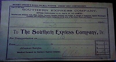 "Collectible 1897 Bill Head ""The Southern Express Company..""     ?"