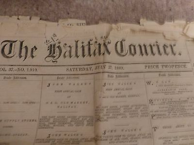 The Halifax Courier Newspaper - Dated Saturday July 27Th 1889