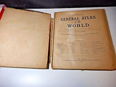 Scarce! 1856 Morse's General Atlas Of The World Containing 70 Maps
