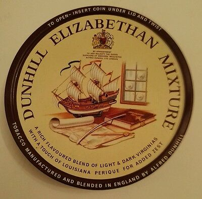 VINTAGE PIPE TOBACCO TIN Dunhill Elizabethan By Appointment