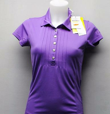 New Ladies Daily Sports cap sleeves Lupine polyester golf polo shirt blouse XS
