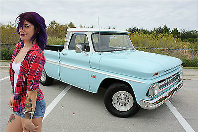 1966 Chevrolet C-10 CUSTOM C10 SHOW TRUCK VINTAGE CLASSIC EXCEPTIONALLY CLEAN, STRAIGHT C-10 CUSTOM SHORT BED FLEETSIDE RUST FREE V8 PS FL