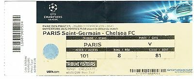 Paris St Germain v Chelsea - UEFA Champions League - 2014/15 - Used Ticket