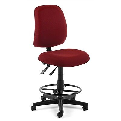 OFM Posture Task Chair with Drafting Kit, Wine