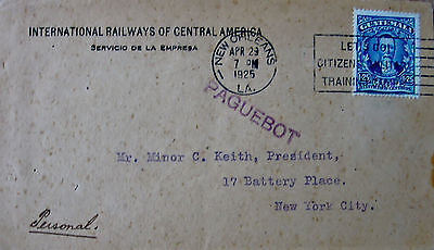 Vintage Guatemala Cover, International Railways of Central America.