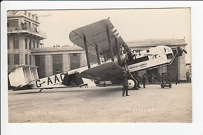Imperial Airways City of Manchester at Croydon Aerodrome Real Photo Postcard