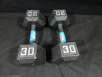 FITNESS GEAR  Barbell Cast Iron Hex Dumbbell, Black SET OF (2) 30LBS,25 OR 15LBS