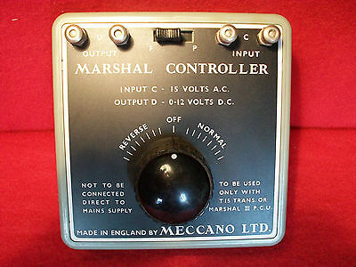 Vintage Marshall Power Controller Rare Item Meccano Ltd