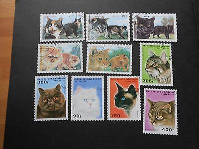 CONGO BRAZZAVILLE 10 Various Cat Stamps