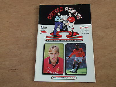 Signed Man Utd programme by ANDY HINCHCLIFFE of Everton