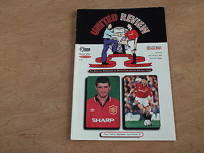 Signed Man Utd programme by ANDY TOWNSEND of Aston Villa