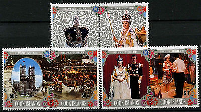 Cook Islands 1977 SG#564-9 Silver Jubilee MNH Set From M/S #D42498
