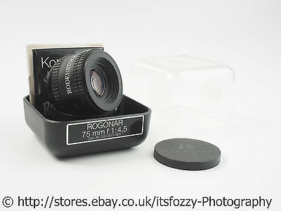 Rodenstock Rogonar 75mm f/4.5 Enlarger Lens With Jam Ring Konterring
