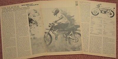 1972 Yamaha Mini Enduro JT2 motorcycle Original 4 page cycle test with specs