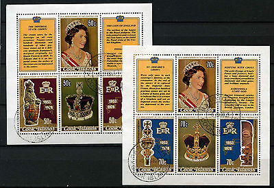 Cook Islands 1978 SG#593-600, 25th Anniv Of Coronation Used Sheetlets Set#D42520