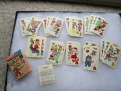 Vtg 1962 Ed-U-Cards Rocky and Bullwinkle Playing Cards Nice Complete HTF