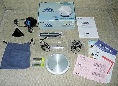 Sony Walkman D-Ej955 Personal Metal Lid Cd Player Boxed Set With Papers Superb